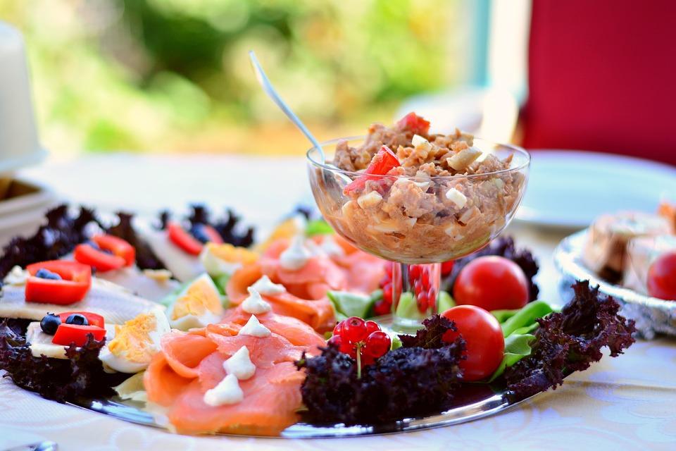 Fish Plate - Tuna - Mediterranean Food