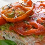 Roasted Tomato Pesto Salmon